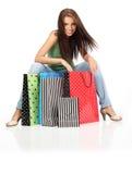 Mujer de las compras. Imágenes de archivo libres de regalías