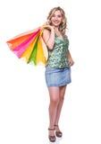 Mujer de las compras Imagen de archivo libre de regalías