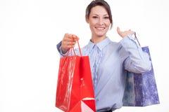Mujer de las compras Fotografía de archivo