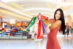 Mujer de las compras fotos de archivo