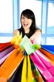 Mujer de las compras Imagen de archivo