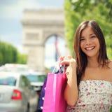Mujer de las compras de París Fotografía de archivo