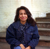 Mujer de Latina en Georgetown fotografía de archivo