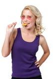 Mujer de ligue con el lollypop Imagen de archivo
