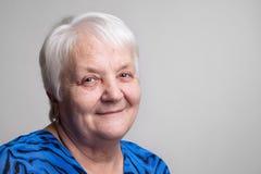 Mujer de los ancianos del retrato Foto de archivo