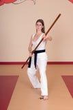 Mujer de los artes marciales Fotos de archivo libres de regalías