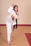 Mujer de los artes marciales Fotografía de archivo libre de regalías