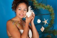 Mujer de los pescados Foto de archivo libre de regalías
