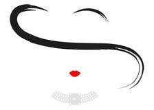 Mujer de lujo de la moda del logotipo de la tienda Diseño de la joyería del logotipo de la compañía, aislado Fotografía de archivo