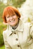 Mujer de mediana edad al aire libre Imágenes de archivo libres de regalías