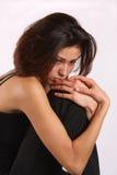Mujer de Melancholoy Foto de archivo