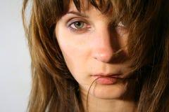 Mujer de mirada blanda Imagen de archivo libre de regalías