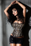Mujer de moda con el pelo largo Imágenes de archivo libres de regalías
