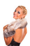 Mujer de moda elegante foto de archivo