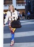 Mujer de moda en Nueva York Imágenes de archivo libres de regalías