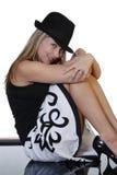 Mujer de moda sonriente Imagen de archivo libre de regalías