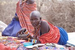 Mujer de Msai Imagen de archivo