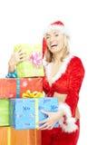 Mujer de Navidad Foto de archivo libre de regalías