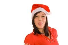 Mujer de Navidad imagenes de archivo