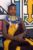 Mujer de Ndebele Imágenes de archivo libres de regalías
