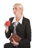 Mujer de negocios aburrida foto de archivo
