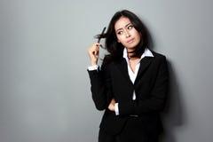 Mujer de negocios aburrida Imagen de archivo libre de regalías