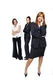 Mujer de negocios acertada Fotografía de archivo