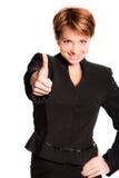 Mujer de negocios acertada fotos de archivo libres de regalías