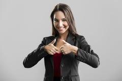 Mujer de negocios acertada Fotos de archivo