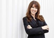 Mujer de negocios acertada Imagen de archivo