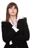 Mujer de negocios acertada Foto de archivo libre de regalías