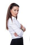 Mujer de negocios acertada Fotografía de archivo libre de regalías
