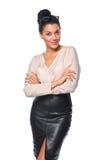 Mujer de negocios acertada confiada Imagen de archivo libre de regalías