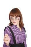 Mujer de negocios acertada seria imágenes de archivo libres de regalías
