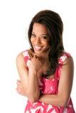 Mujer de negocios africana de risa Fotografía de archivo libre de regalías