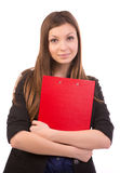 Mujer de negocios - agente inmobiliario foto de archivo