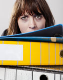 Mujer de negocios agotada Imagen de archivo libre de regalías