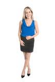 Mujer de negocios aislada en longitud corporal completa imagenes de archivo