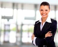 Mujer de negocios. Aislado Imagenes de archivo