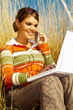 Mujer de negocios al aire libre imagen de archivo libre de regalías
