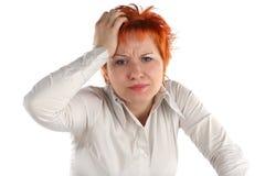 Mujer de negocios ansiosa Imagen de archivo