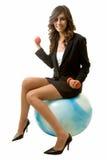 Mujer de negocios apta Imagenes de archivo