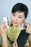Mujer de negocios asiática Fotos de archivo