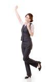 Mujer de negocios asiática alegre imagen de archivo