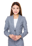 Mujer de negocios asiática casual Imágenes de archivo libres de regalías