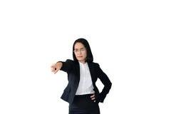 mujer de negocios asiática con el traje de trabajo Foto de archivo