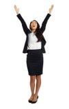 Mujer de negocios asiática con los brazos abiertos Fotografía de archivo libre de regalías