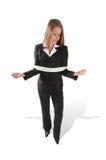 Mujer de negocios atada Fotos de archivo libres de regalías