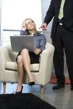 Mujer de negocios atractiva Imagenes de archivo