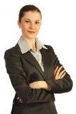 Mujer de negocios atractiva. Aislado en blanco Foto de archivo libre de regalías